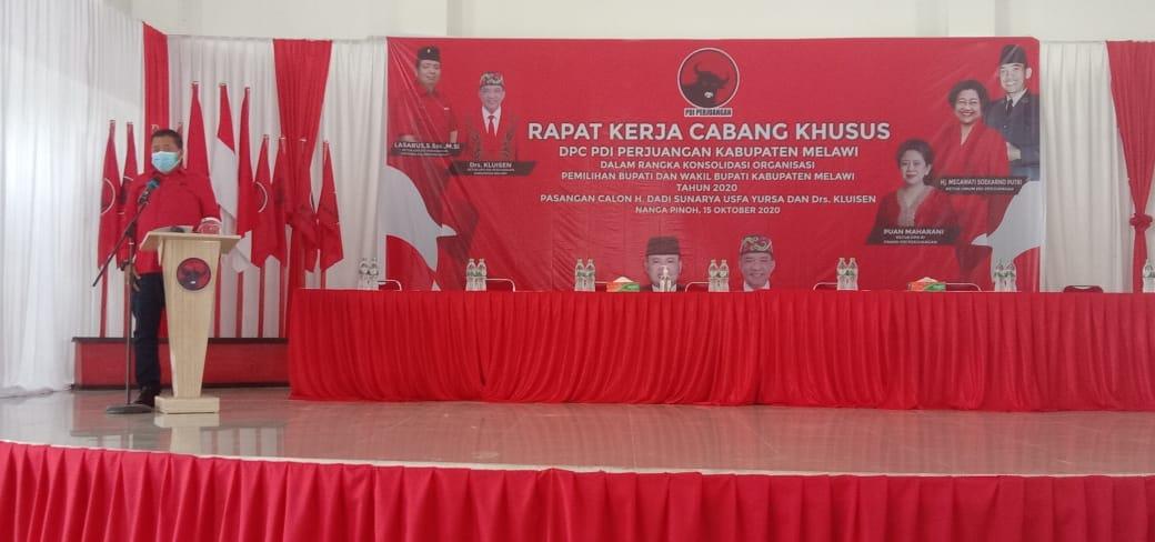 Rapat kerja Cabang khusus PDIP Kabupaten Melawi Dihadiri Seluruh Kader Yang Ada Sekabupaten Melawi