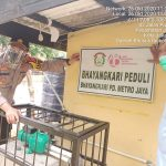 Penyerahan Bantuan Mesin Pompa Air Oleh Ibu Ketua Byangkari Daerah Metro Jaya
