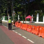 Antisipasi Demo Hari ini, Polisi Siagakan Personil dan Tutup Jalan Di Sekitar Istana