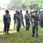 Prajurit Satlinlamil I Jakarta Asah Naluri Tempur Dengan Latihan Menembak
